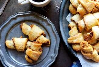 Rugelach Bakealong via @kingarthurflour