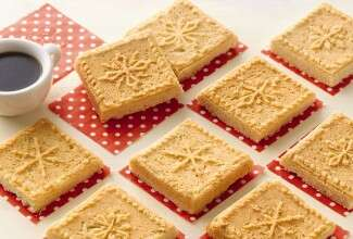 Snowflake Shortbread via @kingarthurflour