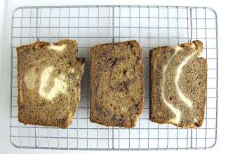 Sweet twist on banana bread via @kingarthurflour
