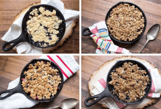 Gluten-Free Triple Berry Crisp via @kingarthurflour