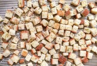 How to make gluten-free croutons via @kingarthurflour