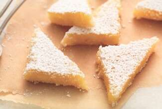Perfect Gluten-Free Lemon Squares with an Almond Flour Crust via @kingarthurflour