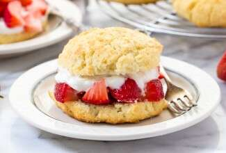 Gluten-Free Shortcake via @kingarthurflour