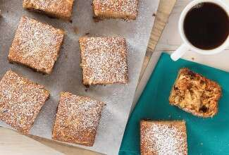 Gluten-Free Quinoa Apple Snack Cake via @kingarthurflour