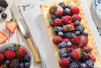 Berries and Creme Tart