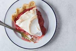 Strawberry Cream Meringue Pie