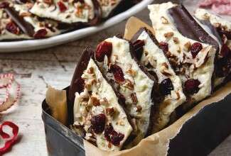 Cranberry Nut Chocolate Bark