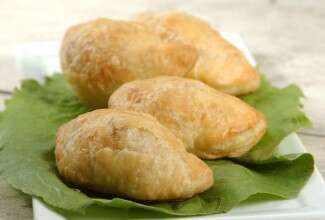 Samosas with Quick Flaky Pastry