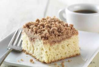 Gluten Free Cinnamon-Streusel Coffeecake made with baking mix