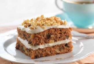 Gluten-Free Carrot Cake made with baking mix