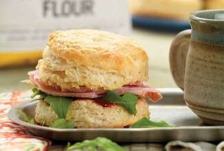Cheddar-Ham Buttermilk Biscuit Sandwiches