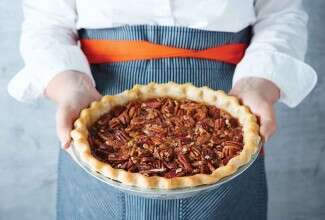 Bourbon Ginger Pecan Pie
