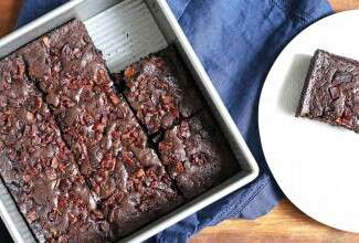 Truly Decadent Bacon Brownies