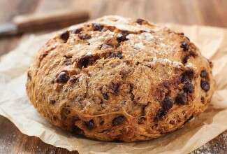 No-Knead Chocolate-Cherry Pecan Bread