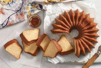 Maple Pound Cake with Maple-Rum Glaze