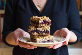 Blackberry Coconut Bars with Hazelnut Crumble