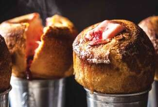Popovers with Cranberry Butter