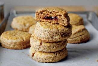 Jam-Bellied Scones