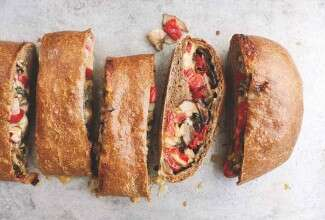 Buckwheat and Mushroom Stromboli
