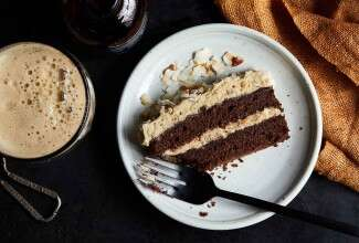 Chocolate Pecan Coconut Porter Cake
