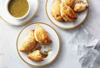 Goat Cheese and Portobello Empanaditas