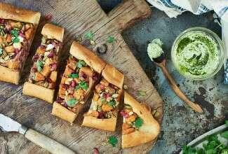 Sweet Potato and Feta Pide