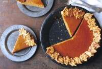 How to keep pumpkin pie from cracking via @kingarthurflour