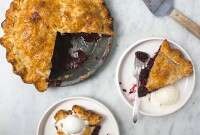Gingery Blackberry Pie via @kingarthurflour