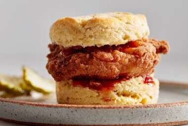Crispy Gluten-Free Buttermilk Fried Chicken and Biscuits