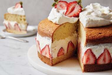 Strawberry Mascarpone Tea Cake