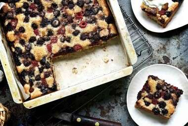 Late Summer Berry Torte