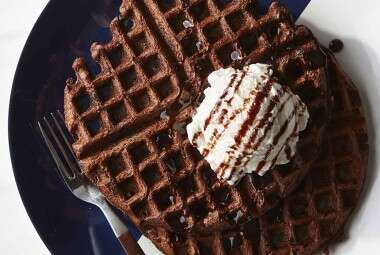 Chocolate Malt Waffles