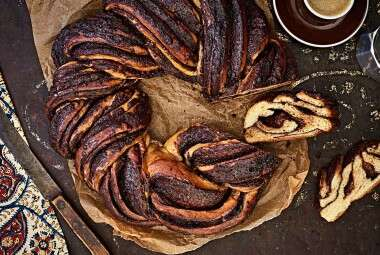 Chocolate Babka Wreath